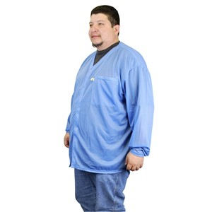 NST-VOJ3XL-SMOCK, NOSTAT, JACKET, SNAPS, BLUE, 3XL  1 POCKET