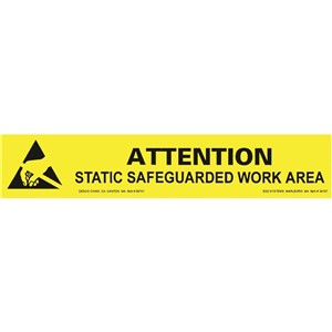 06751-SIGN, BENCH, ESD PROTECTIVE SYMBOL, 1'' x 6''