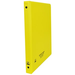 07435-ESD BINDER, STATIC DISSIPATIVE, YELLOW, 1/2''