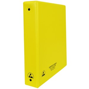 07437-ESD BINDER, STATIC DISSIPATIVE, YELLOW, 1-1/2''