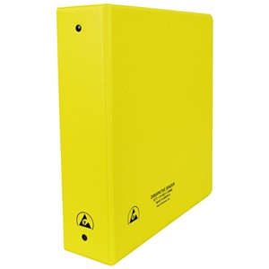 07438-ESD BINDER, STATIC DISSIPATIVE, YELLOW, 2''