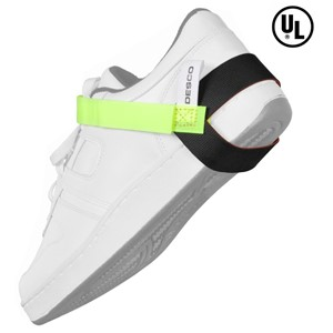 FOOT GROUNDER, HEEL, LIME GREEN STRAP, 1MEG, UL LISTED