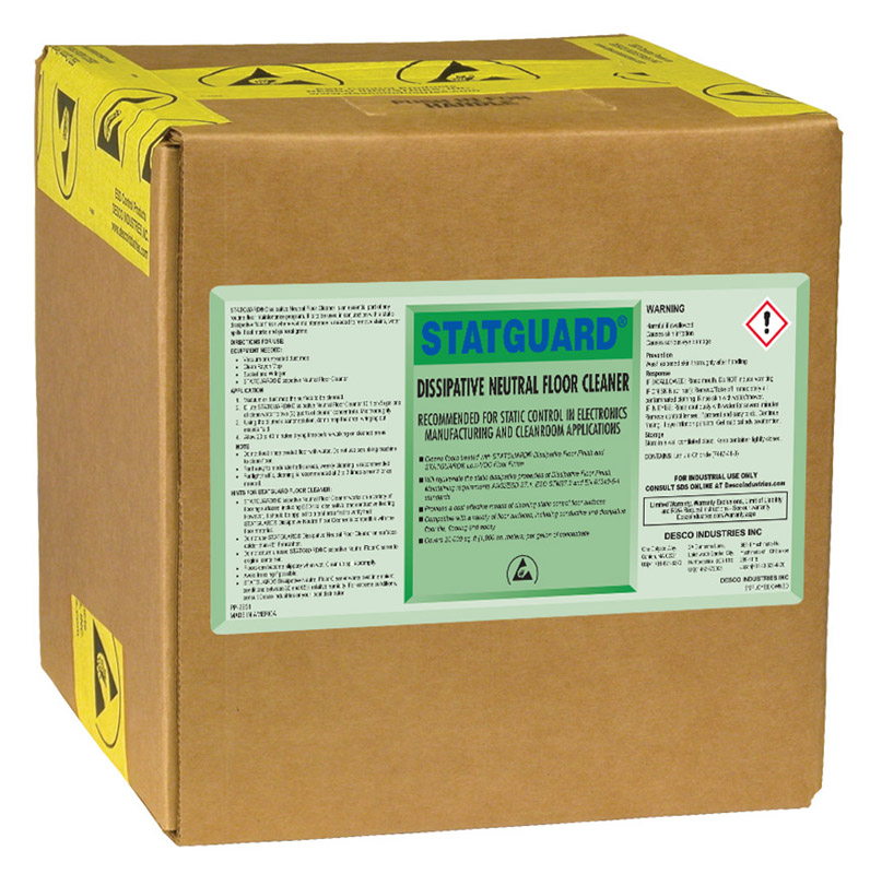 10561-CLEANER, FLOOR, NEUTRAL, STATGUARD, 2.5 GAL BOX