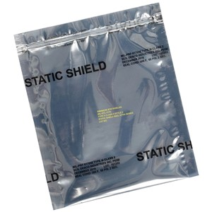 STATIC SHIELD BAG,81705 SERIES METAL-IN, ZIP, 18x24, 100 EA