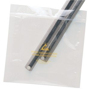 BAG, STATFREE, CLEAR, ZIP, 12IN x 18IN, 100 EA/PACK