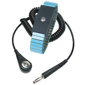 21317-WRIST STRAP, METAL, BLUE, ADJUSTABLE, 6 FT CORD, 4MM