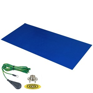 66220-DUAL-LAYER RUBBER MAT, DARK BLUE 0.060''x30''x72'', W/GRND