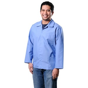 73509-SMOCK, ESD, HEAVY DUTY, COTTON POLY, 1% C,  BLUE, 2XLARGE