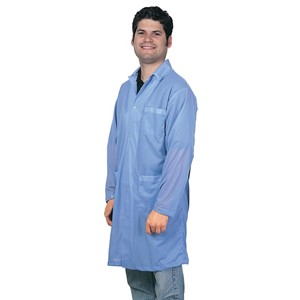 73602-SMOCK, STATSHIELD, LABCOAT, SNAPS, BLUE, MEDIUM