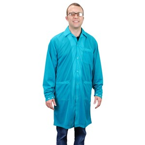 73640-SMOCK, STATSHIELD, LABCOAT, SNAPS,TEAL, XSMALL