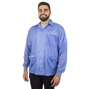 73765-SMOCK, STATSHIELD, JACKET, KNITTED CUFFS, BLUE, X-LARGE