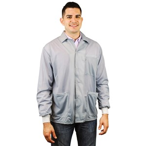 73782-SMOCK, STATSHIELD, JACKET, KNITTED CUFFS, GREY, 4XLARGE