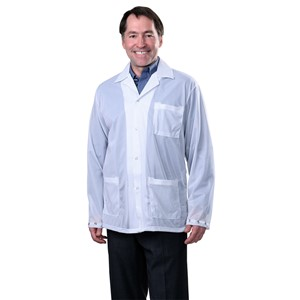 SMOCK, STATSHIELD, JACKET, SNAPS, WHITE, MEDIUM