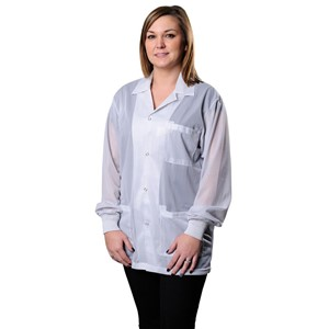 73833-SMOCK, STATSHIELD, JACKET, KNITTED CUFFS, WHITE, LARGE