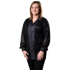 73863-SMOCK, STATSHIELD, JACKET, KNITTED CUFFS, BLACK, LARGE