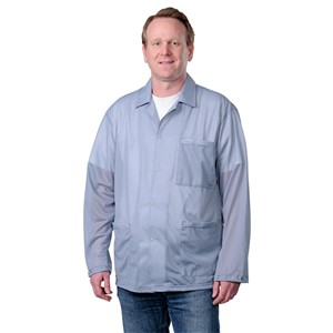 73891-SMOCK, STATSHIELD, JACKET, SNAPS, GREY, SMALL