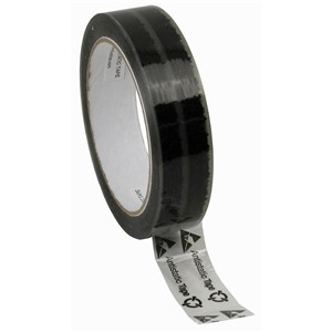 81229-WESCORP CLEAR TAPE, W/SYMBOLS, 1''x72YDS, 3'' PAPER CORE