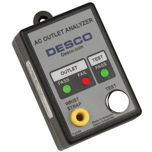 98132-TESTER, AC OUTLET & WRIST STRAP, 120VAC