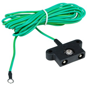 PP-1516-CORD, COMMON GROUND, 10MM, SHROUDED BANANA PLUGS, NO RES