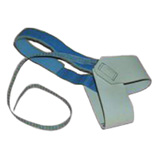 W7065-HEEL GROUNDER, DUAL CUP, NON MARRING, BLUE HOOK/LOOP