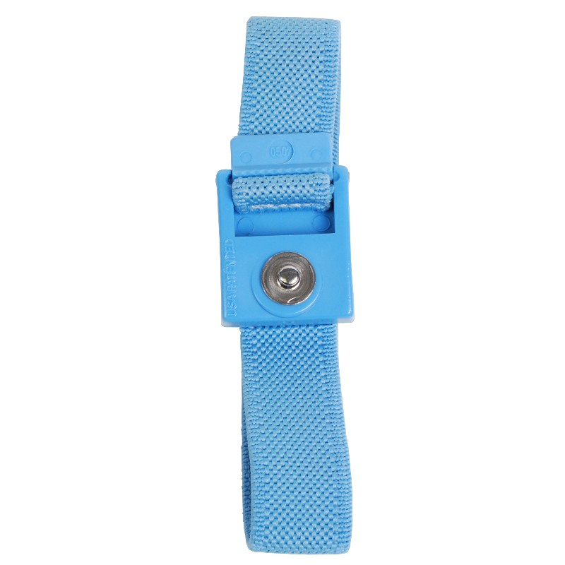 04534-TRUSTAT ADJUSTABLE WRIST BAND WOVEN 4MM SNAP, BLUE
