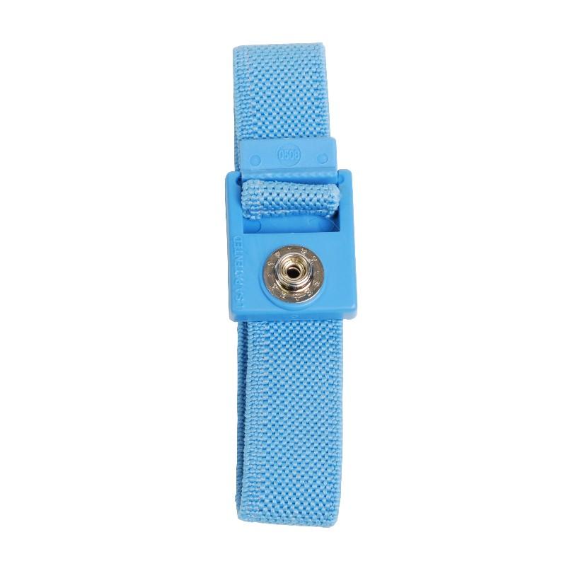 04535-TRUSTAT ADJUSTABLE WRIST BAND WOVEN 7MM SNAP, BLUE
