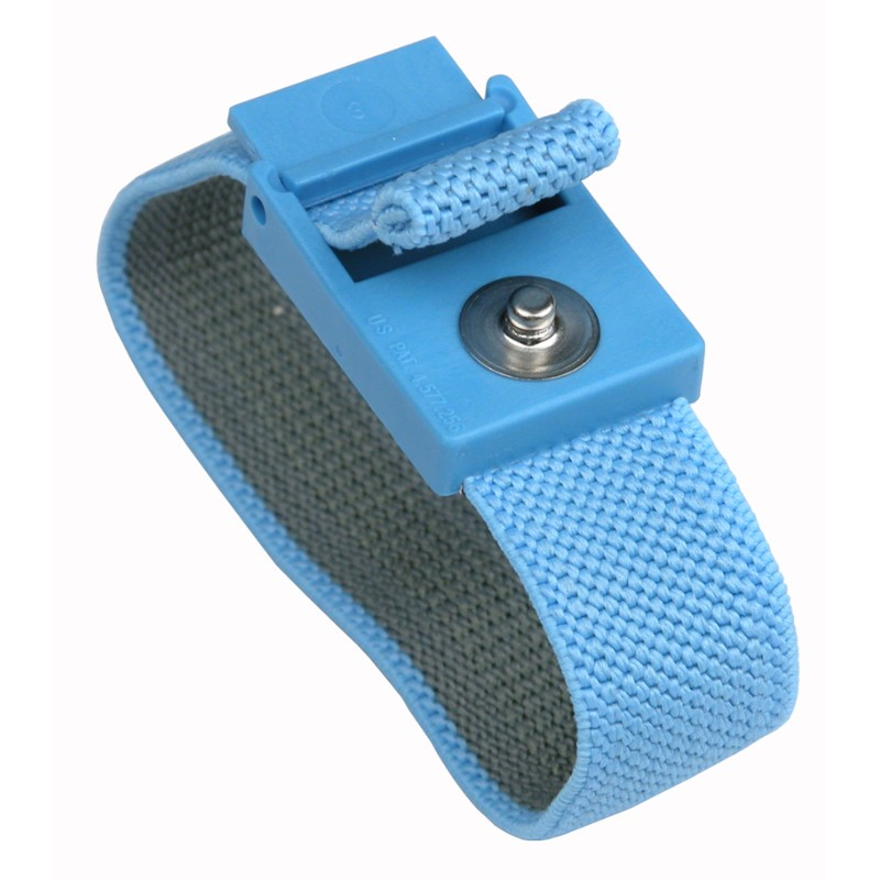 04560-TRUSTAT WRISTBAND, ELASTIC, BLUE, BAND ONLY, 4MM SNAP
