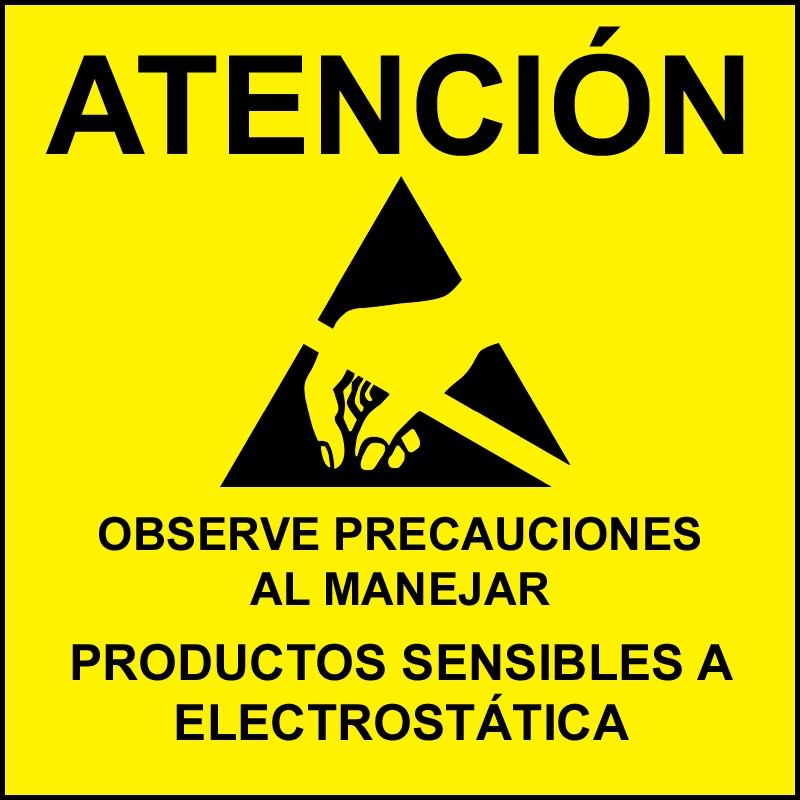 06726-LABEL, ATTENTION, RS-471, SPANISH, 4''x4'', ROLL OF 250