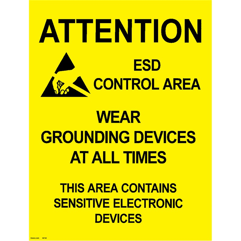 06742-POSTER, AREA WARNING, 17'' x 22'', PACK OF 5