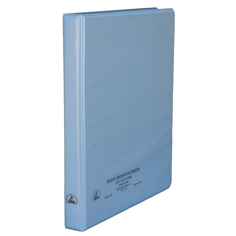 07430-BINDER, 3-RING, DISSIPATIVE, W/CLEAR POCKET, 1/2''