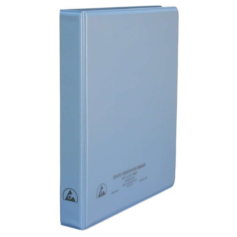 07431-BINDER, 3-RING, DISSIPATIVE, W/CLEAR POCKET, 1''