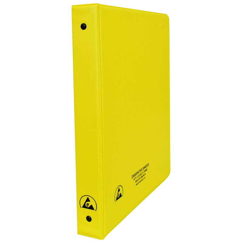 07436-ESD BINDER, STATIC DISSIPATIVE, YELLOW, 1''