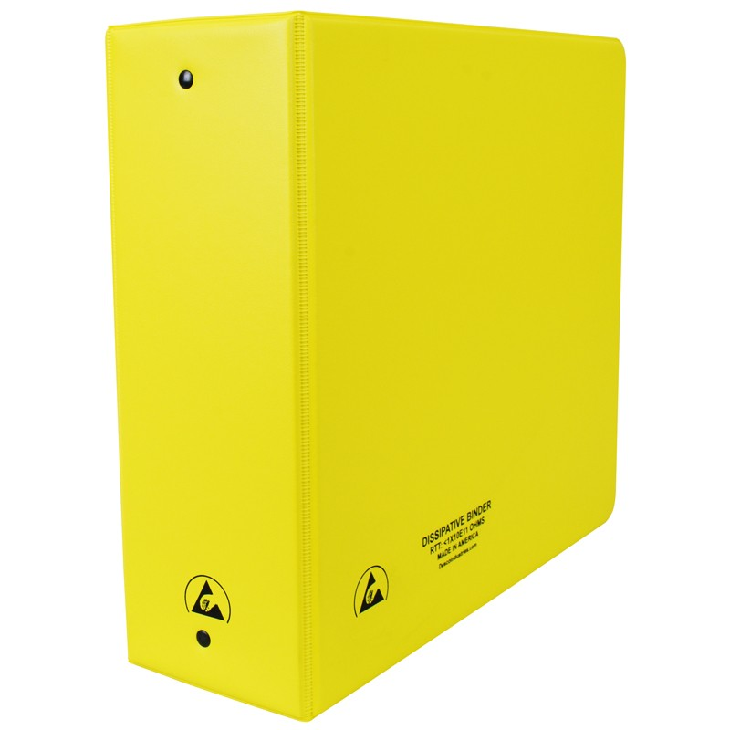 07439-ESD BINDER, STATIC DISSIPATIVE, YELLOW, 3''