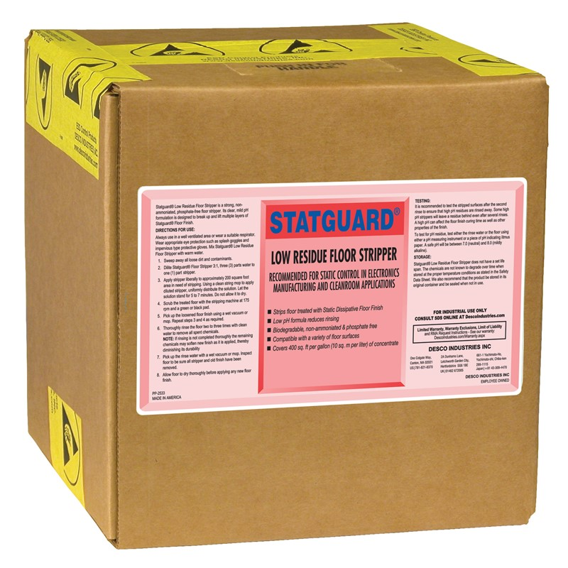 10442-STRIPPER, FLOOR, STATGUARD 5 GAL BOX