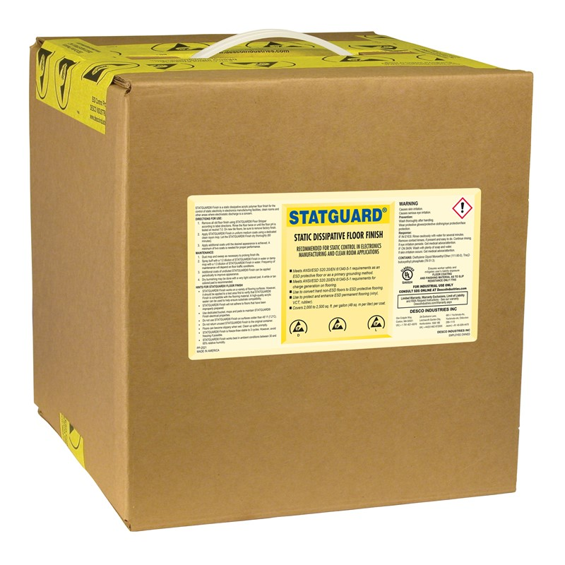 10511-FINISH, FLOOR, STATGUARD 2.5 GAL BOX