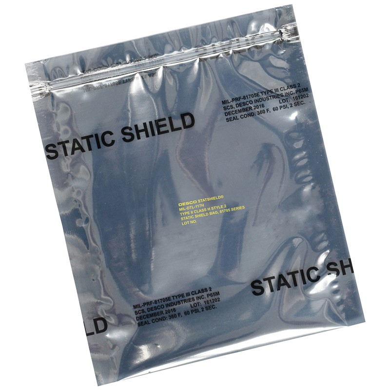 12932-STATIC SHIELD BAG,81705 SERIES METAL-IN, ZIP, 18x24, 100 EA