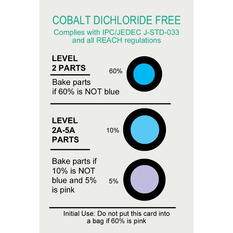 13859-HIC CARD 5% 10% 60% RH, COBALT DICHLORIDE FREE, 125 EA