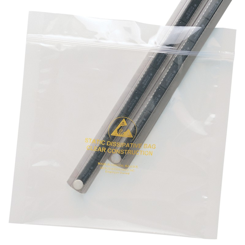 13880-BAG, STATFREE, CLEAR, ZIP, 4IN x 6IN, 100 EA/PACK