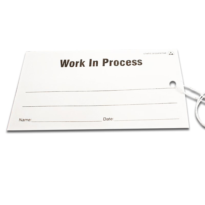 16106-TAG, ESD, WORK IN PROCESS, 2.75'' x 5'', PK OF 100, WHITE