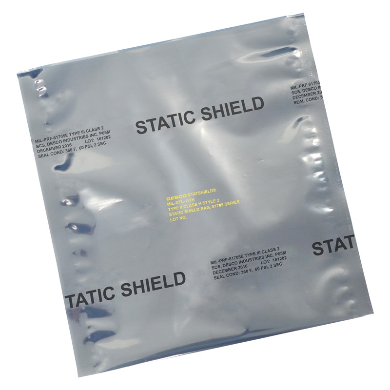 12911-STATIC SHIELD BAG,81705 SERIES METAL-IN, 4x8, 100 EA