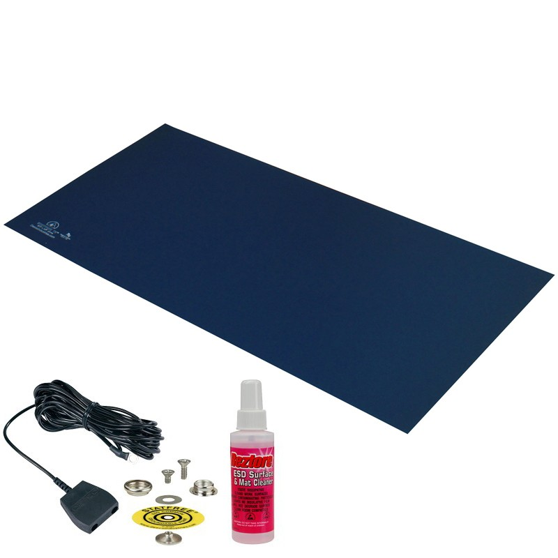 66051-MAT, STATFREE T2, RUBBER, DARK BLUE, 0.060'' x 24'' x 36''