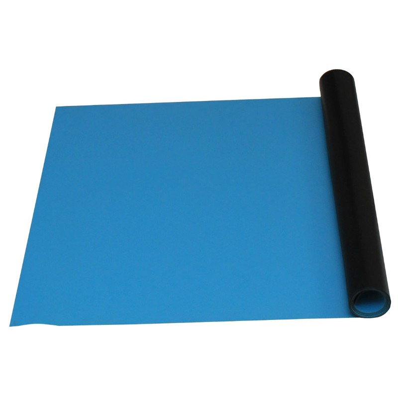 66200-DUAL-LAYER RUBBER, LIGHT BLUE ROLL, 0.060''x24''x50'