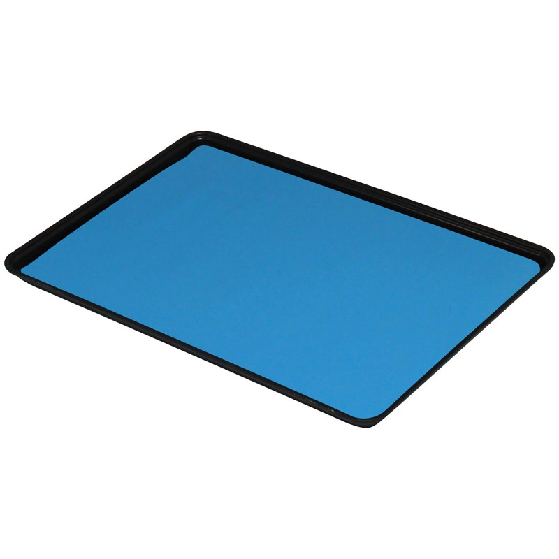 66216-DUAL-LAYER RUBBER MAT, LIGHT BLUE 0.060''x16''x24''