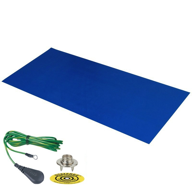 66219-DUAL-LAYER RUBBER MAT, DARK BLUE 0.060''x30''x60'', W/GRND