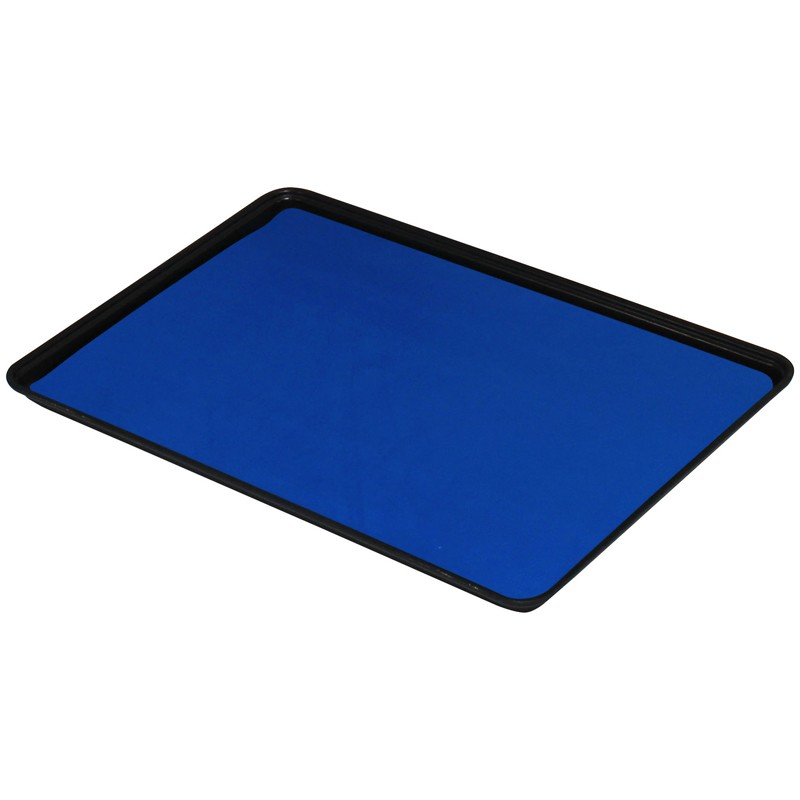 66222-DUAL-LAYER RUBBER MAT, DARK BLUE 0.060''x16''x24''