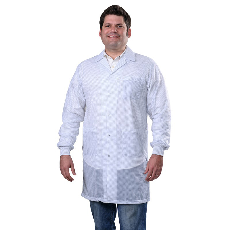 73635-SMOCK, STATSHIELD, LABCOAT, KNITTED CUFFS, WHITE, 2XLARGE