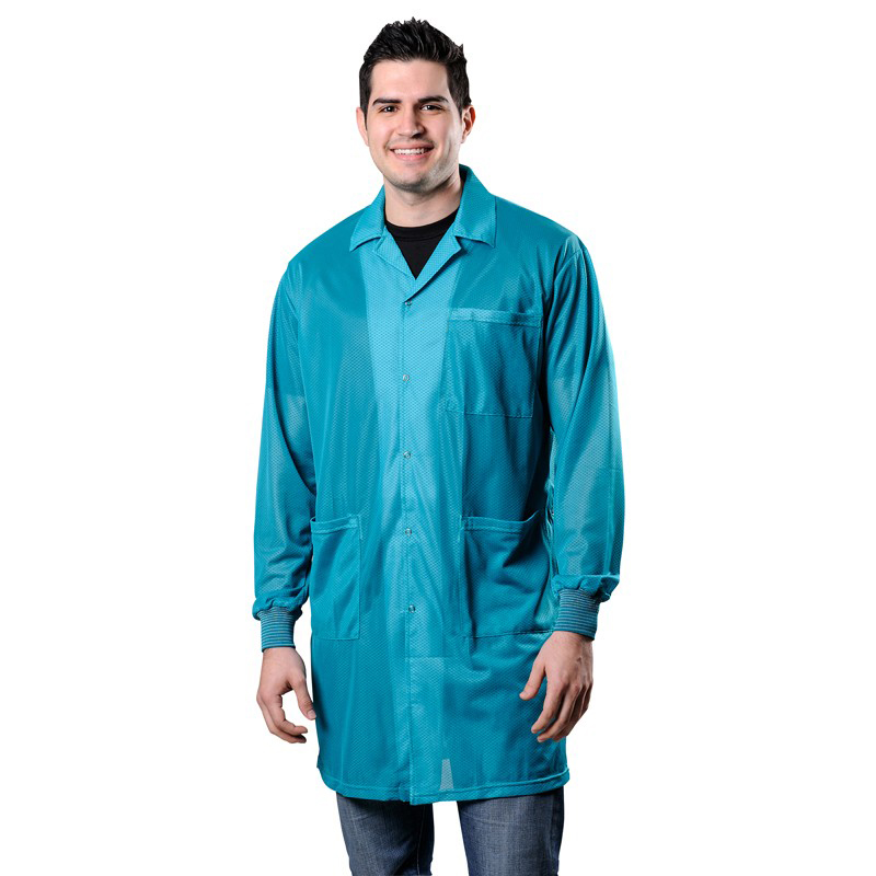 73658-SMOCK, STATSHIELD, LABCOAT, KNITTED CUFFS, TEAL, 5XLARGE