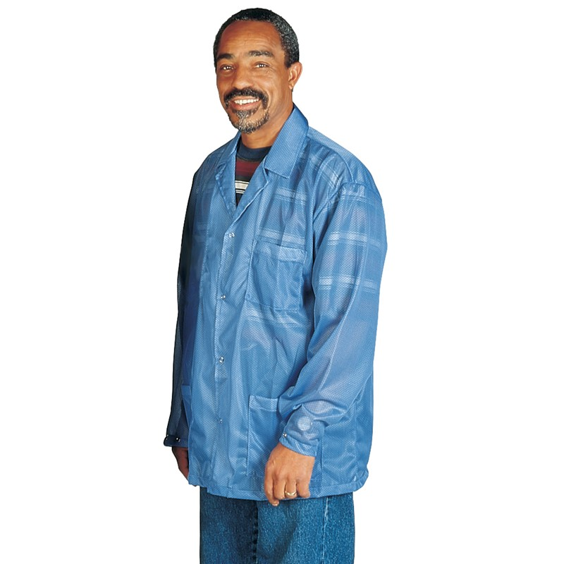 73700-SMOCK, STATSHIELD, JACKET, SNAPS, BLUE, SMALL