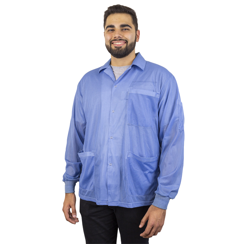 73750-SMOCK, STATSHIELD, JACKET, KNITTED CUFFS, BLUE, SMALL