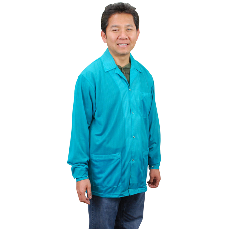 73841-SMOCK, STATSHIELD, JACKET, SNAPS, TEAL, SMALL